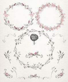 Watercolor wedding collection vol 1 by Lisa Glanz on Creative Market
