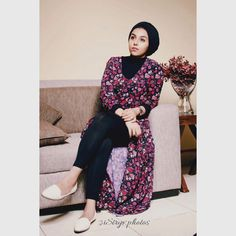 Outfit ideas #2017trends #ootd #chicoutfits #streetstyle #floral #hijaboutfits