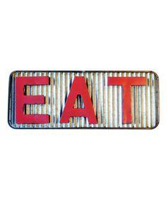 Look at this #zulilyfind! Red 'Eat' Decorative Sign #zulilyfinds