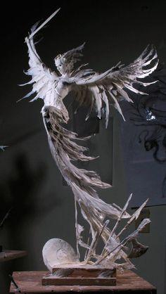 A depiction of a woman by Forest Rogers. Arte Fashion, Art Sculpture, Steel Sculpture, Toy Art, Creature Design, Oeuvre D'art, Dark Art, Art Inspo, Art Reference