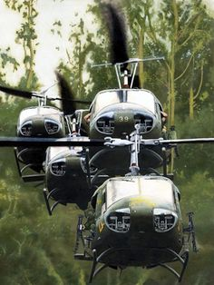 Hueys armed with are in air assault operation in vietnam Vietnam History, Vietnam War Photos, Military Helicopter, Military Aircraft, Helicopter Pilots, Military Art, Military History, South Vietnam, Military Equipment