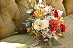 Very pretty but I would do different colors. fall wedding bouquet by Fleurtations Floral @Alyssa Jacobs