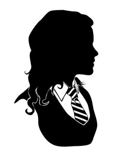 "Hermione - Standard Silhouette -- by:   GTRichardson  --  A standard silhouette of Hermione Granger from J.K. Rowling's ""Harry Potter"" series."