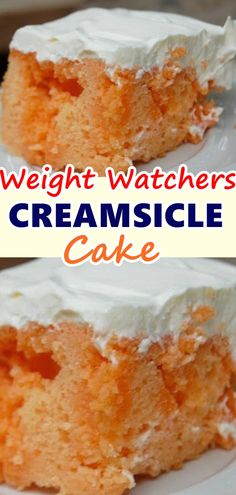 This Creamsicle cake is a fun dessert that tastes like a favorite childhood treat. It's an incredibly easy recipe that's always a crowd-pleaser! Don't forget to Pin this so it will be SAVED to your timeline! Waffle Recipes, Easy Cake Recipes, Ww Recipes, Skinny Recipes, Snacks Recipes, Cooking Recipes, Burger Recipes, Candy Recipes, Quick Recipes