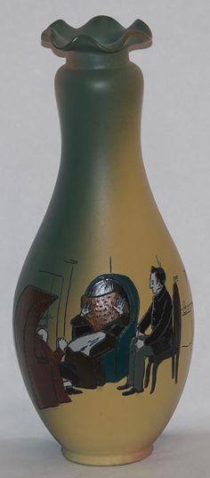 Weller Pottery Dickens Ware Bleakhouse Vase