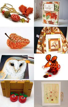 Hello Autumn by Pat Longmuir on Etsy--Pinned with TreasuryPin.com
