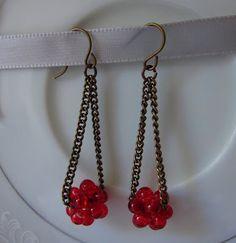 Oksana Plus Hobbies: DIY: Beaded Ball Earrings (Сделай сам: Серьги с шариком из бусин)