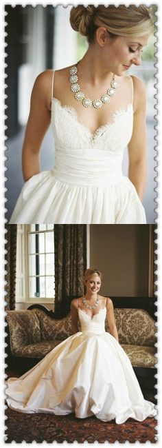 Wedding Dress Trends from Spring 2019 Bridal,Wedding dresses that fit your style and budget! Cheap White Wedding Dresses, Rustic Bridesmaid Dresses, Wedding Dresses Under 100, White Lace Wedding Dress, Bridesmaid Dresses Online, Rustic Wedding Dresses, Wedding Dress Trends, Princess Wedding Dresses, Modest Wedding Dresses