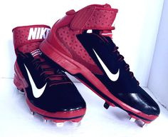 best service 5b230 81cbc NEW Red Nike Men s Huarache Pro Mid Metal Baseball Cleat 599235-016 size 13