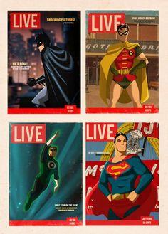 Superhéroes al mejor estilo #Vintage. #Comic