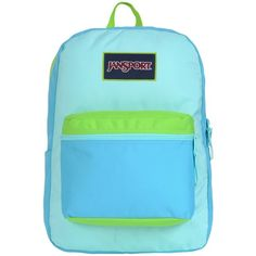 JanSport Overexposed Backpack Black/Flourescent Pink ($22) ❤ liked on Polyvore featuring bags, backpacks, jansport, black rucksack, jansport backpack, rucksack bag and pink bag