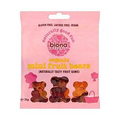 Biona Organic Jelly Fruit Bears NAS 75g  #govegan #healthyfood #whatveganseat #vegansofig #foodporn #veganfood #love #veganfoodshare #organic #food