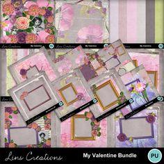 Digital Scrapbooking Kits | My Valentine bundle-(LinsCre) | Family, Girls, Holidays - Valentine's Day, Memories, Seasons - Spring | MyMemories
