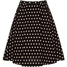 Vivetta Lilith Polka-Dot A-Line Skirt found on Polyvore