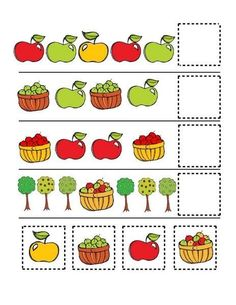#actividades #chocolate #recursos #educacin #infantil #trabajar #series #menta #para #otoo #las #ms #en #yMenta Más Chocolate - RECURSOS y ACTIVIDADES PARA EDUCACIÓN INFANTIL: Trabajar las SERIES en OTOÑO Fall Preschool Activities, Preschool Learning Activities, Preschool Math, Toddler Activities, Kids Learning, Math Patterns, Kids Math Worksheets, Apple Theme, Kids Education