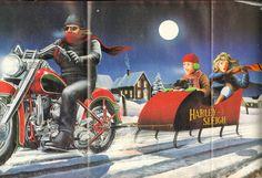 David Mann Biker Art Easyriders Centerfold 16'' x 20'' Matted Motorcycle Poster…