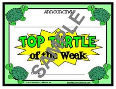 Turtle Classroom Theme! DONE! This is especially for @Shannon Lindley and myself ;) haha