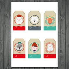 Christmas tags Party supplies Planner Stickers Gift tags