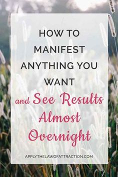 Find out how to manifest faster. Get insider tips + a free manifesting meditation to get results almost overnight! Speed up the law of attraction.