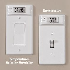Temperature Plates..monitor your house, room-by-room, fit standard plate, battery operated, no-wire installation