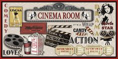 Jean Plout Poster Print Wall Art Print entitled Cinema Room-Light Jean Plout Poster Print Wall Art Print entitled Cinema Room-Light, None Wall Art Prints, Poster Prints, Framed Prints, Light Wall Art, Decoupage Printables, Finding A Hobby, Make Your Own Card, Card Making Supplies, Movie Themes