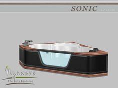Sonic Bathroom - Bathtub Found in TSR Category 'Sims 4 Showers & Tubs'