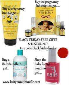 Black Friday Freebies From Baby Bump Bundle - four different free gifts available for pregnant moms and baby - details at http://babybumpbundle.com/black-friday-freebies-from-baby-bump-bundle/