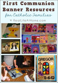 Lots of Information and Resources about First Communion Banners for Catholic Families