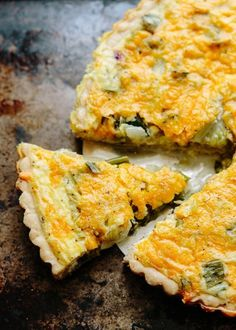 Hugh Fearnley-Whittingstall's Lettuce, Green Onion & Cheese Tart