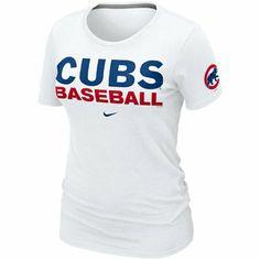 ecdc47ed862 Nike Chicago Cubs Ladies Premium Practice T-Shirt - White