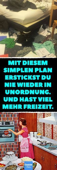 Mit diesem simplen Plan erstickst du nie wieder in Unordnung. Und hast viel mehr… With this simple plan, you will never strangle again. And have much more free time. With this simple trick, you'll get rid of the mess in your apartment. House Cleaning Tips, Cleaning Hacks, Sugar Detox Plan, Budget Planer, Best Ikea, Making Life Easier, Tidy Up, Homemaking, Declutter