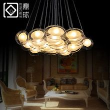 Modern Creative glass bubble ball glass chandelier goose eggs in the bedroom romantic restaurant pendant lamp(China (Mainland))