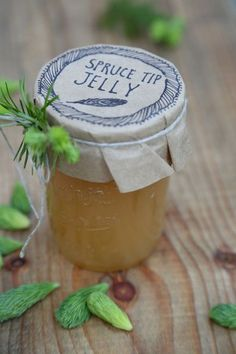 Learn how to make spruce tip jelly from Kitchen Vignettes on PBS Food. The Christmas flavor has a springtime citrus element. Jelly Recipes, Jam Recipes, Canning Recipes, Recipies, Herb Recipes, Juice Recipes, Spruce Tips, Kitchen Vignettes, Pbs Food