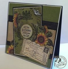 Great French Country stamped card from @Clare Charvill ! Love this! #graphic45 #cards