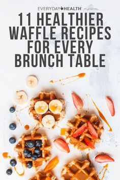 Whether you're gluten-free, vegan, or unfazed by diets in general, these waffle recipes are sure to be total crowd-pleasers. Healthy Food To Lose Weight, Healthy Food List, Healthy Meals For Kids, Good Healthy Recipes, Healthy Foods, Vegan Recipes, Snack Recipes, Sweet Potato Waffles, Chicken And Waffles