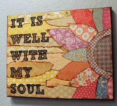 Canvas Scripture Art by MessyGirlArt on Etsy, $24.00