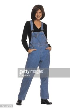 Stock Photo : Woman in overalls