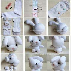 Verschiedene Tiere aus Socken basteln - Anleitung-dekoking-com-9
