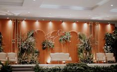 The most impressive backdrop. We had a wonderful time designing this! Massive congratulations to bot Wedding Backdrop Design, Wedding Stage Design, Rustic Wedding Backdrops, Wedding Reception Backdrop, Indoor Wedding Decorations, Engagement Decorations, Backdrop Decorations, Luxury Wedding Decor, Event Styling