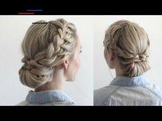#bunwrap Hairstyle For Wedding Day, Casual Wedding Hair, Bridal Hairstyle, Hairstyle Ideas, Braided Bun Hairstyles, Top Hairstyles, Braided Updo, U Shaped Hair, Medium Hair Styles