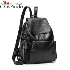 f641489faf76 CHISPAULO Luxury Brand Designer Genuine Leather Backpack Kanken Women Bags  Travel School Bags For Teenage Girls