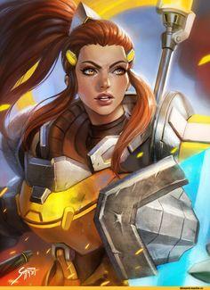 Blizzard,Blizzard Entertainment,фэндомы,Brigitte (Overwatch),Overwatch art,Overwatch,manusia-no-31,artist