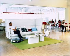 A room withinin a room - the Alcove Highback Sofa by Vitra and Ronan & Erwan Bouroullec