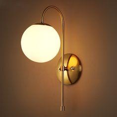 post-modern Nordic minimalist modern glass wall light living room restaurant bedroom hallway wall lamp creative fashion