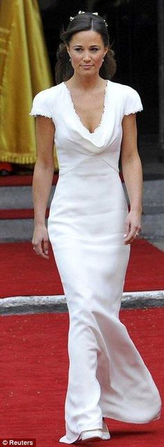Pippa Middleton proves white can work for bridesmaids too. #wedding #style