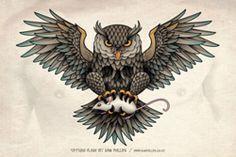 #tattoo #tattoos #owl http://chesttattoosdesign.com/
