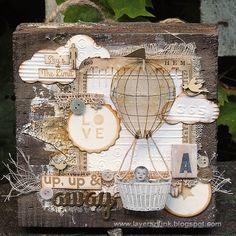 Layers of ink - Vintage Wood Panel Tutorial by Anna-Karin