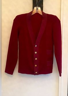 STUNNING! Salvatore Ferragamo Vintage Women's Cardigan Sweater with Signature Buttons