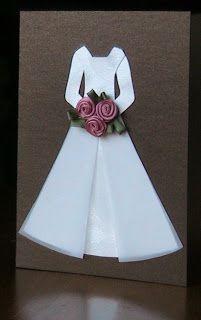 Wedding Dress Template for Invitations Inspirational Little Wedding Dress Card Diy Cute Cards, Diy Cards, Scrapbook Cards, Scrapbooking, Wedding Scrapbook, Wedding Cards Handmade, Dress Card, Wedding Anniversary Cards, Card Wedding