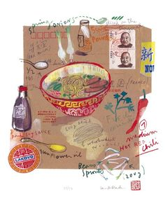 Jeffrey Fisher; Spicy chinese soup recipe - 8 X 10 Limited edition print